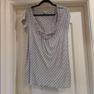 Nursing Shirt Grey Stripes M